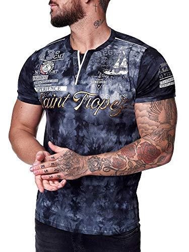 OneRedox Herren T-Shirt Kurzarm Rundhals Saint Tropez Modell 3602 Schwarz XXL
