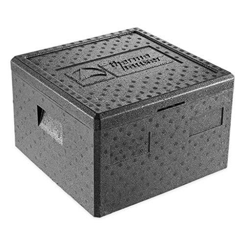 thermohauser EPP-Thermobox Pizza schwarz, mit Deckel, 25,0 L