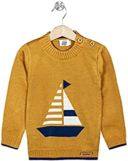The Sandbox Clothing Co. Boy's and Girl's Woolen Regular Fit, Round Neck, Knitted Winter Sweater - Comfortable Kids Pullov...