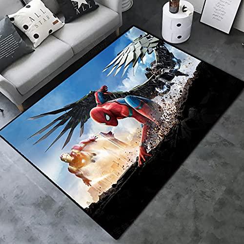 Tapis De Salon Moderne Et Design, Tapis Moelleux Antidérapant, Spiderman Super-héros, Convient Au Salon, À La Chambre À Coucher, Au Couloir. (E-4545) 160x230cm