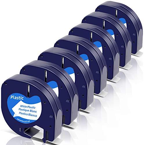 Fimax Compatible Letra Tag Plastico 12 mm x 4 m para Dymo...