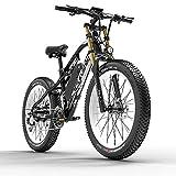 Extrbici Bicicleta Eléctrica de Montaña para Adultos 750W 48V 17Ah Li-Ion Neumáticos de 26'' Pulgadas Doble Suspensión Velocidad Máxima 31MPH con Guardabarros XF900 Blanco