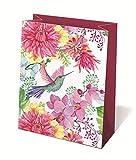 Idena 30242 – Bolsa de Regalo de Flores, 25 x 8,5 x 24,5 cm, Mezcla FSC, Rosa, Flores, Bolsa de Regalo, Bolsa de Regalo
