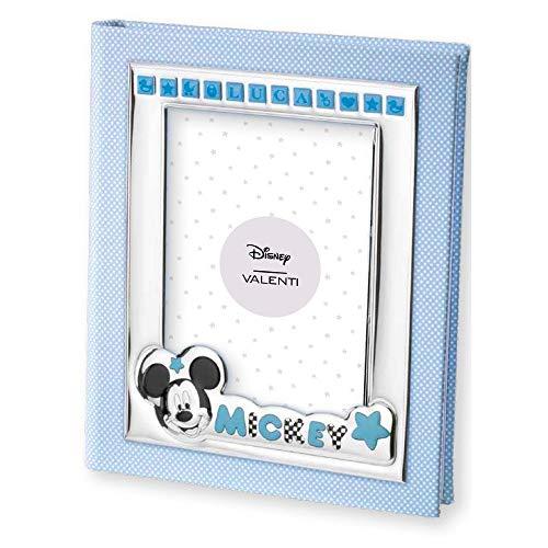 Disney - Album photo Mickey Mouse avec cadre sur la couverture - personnalisable avec le nom de l'enfant - avec autocollants/lettres autocollantes - cadeau pour bébé
