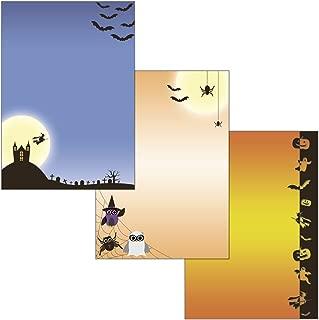 Halloween Mix–3diseños de 52piezas 25papeles de carta + 25unidades Sobres + 2tarjetas postales 521+ 5220+ 5230+ U
