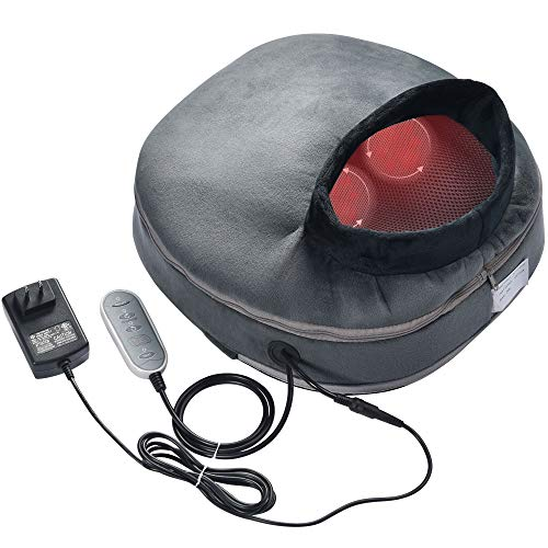 AW 3in1 Electric Shiatsu Foot Back Leg Massager Warmer Fast Heating Pad 12 Rollers Massage Cushion Muscles Pain Relief