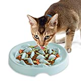 HCHLQLZ Comedero Lento para Perros y Gatos,Comedero Perro Antivoracidad Cuenco,Mascotas Comedero,Cuenco de Alimentación Lento en Melamina, Antideslizante,Antiasfixia,Comida Lenta(Verde)