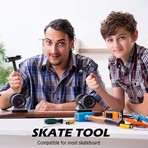 TANJALI Skate Tool All-in-One Skateboard Tool with T-Type Allen Key and L-Type Phillips Head Wrench Screwdriver Multi-Function and Portable