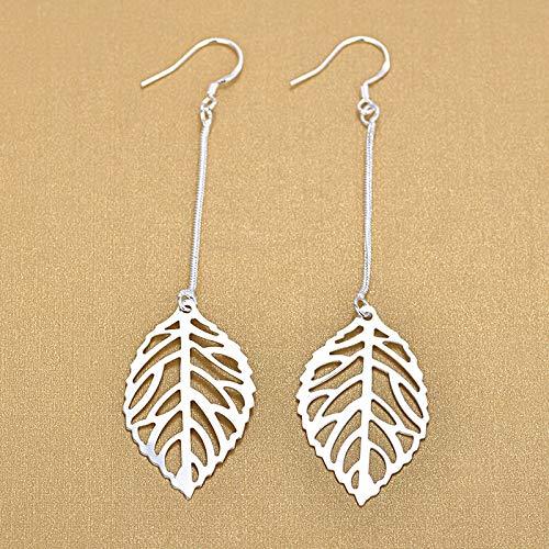 WANGJIA Fashion Hollow laat 925 sterling zilver Drop oorbellen voor vrouwen verjaardagscadeaus