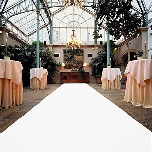 VIP Event-Teppich-Läufer, Hochzeitsläufer PODIUM - Weiß mit Schutzfolie, 2,00m x 1,00m, Hochzeitsteppich, Empfangsteppich, Eventteppich, Teppichboden für Messe & Event