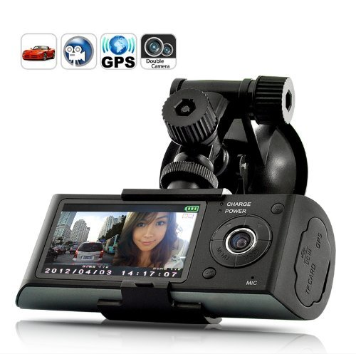 BW 2.7 inch Screen Dual Camera 5MP Car Blackbox DVR with GPS Logger and...