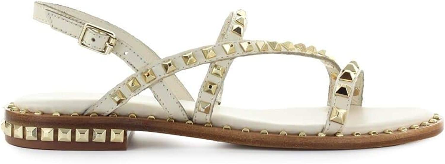 Ash Women's PEACE07 White Leather Sandals