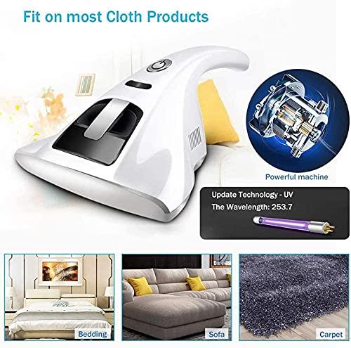 GXXDM Aspirador UV para Eliminar ácaros, Aspirador Aspirador Antipolvo, potentes succiones Que eliminan eficazmente el Polvo Oculto en colchones, Almohadas, Cortinas, sofás y alfombras (