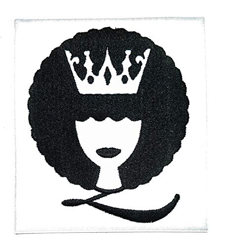 Crown Imperial King Queen White Iron on Patch Cartoon Baby Kids Applique Embroidered Sew Iron on Patch Pants Jacket Polo T- Shirt Hat Backpacks