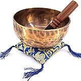 ODACIEU Bol Chantant - Bol Tibétain Artisanal Avec Maillet Et Coussin De Soie - Bol Chantant Tibétain Authentique De...