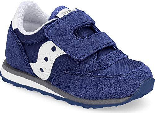 Saucony Boy's Baby Jazz Hook & Loop Sneaker, Cobalt Blue, 7.5 Wide US Toddler
