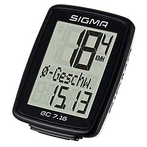 Sigma Sport 07160 Ciclocomputador, Unisex Adulto, Negro, Talla Única