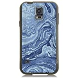 Unnito Galaxy S5 Case - Black Commuter Case for Galaxy S5 Slim Protective Cover with Hard Shell and Soft Inner Layer for Samsung Galaxy S5 Case [Matte Black] - Marble Blue