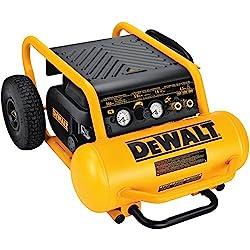 DEWALT D55146 4-1/2-Gallon 200-PSI Hand Carry Compressor with Wheels: Home Improvement