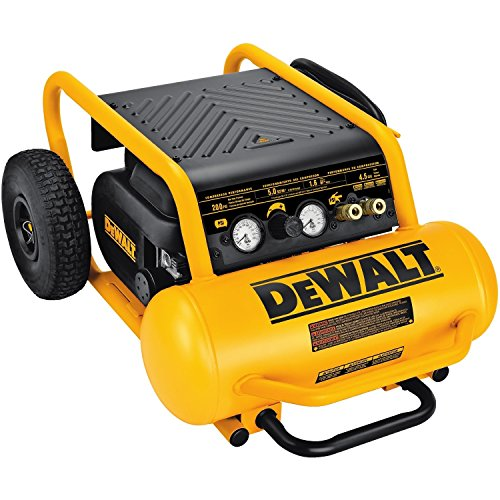 DEWALT Air Compressor, 225-PSI Max, Hand Carry with Wheels,...