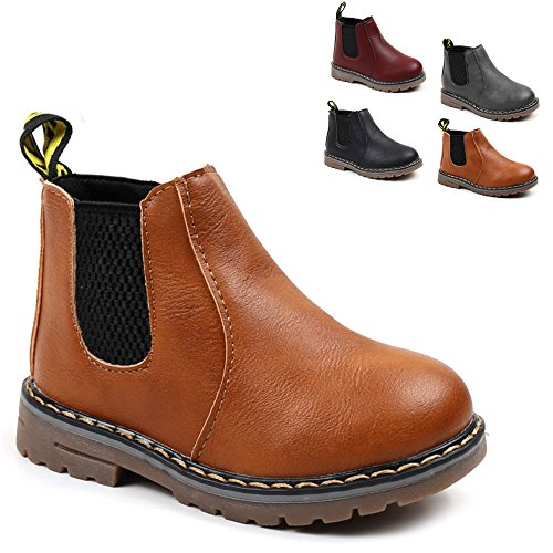 Save Beautiful Baby Kids Boots Girl Boy Shoes Rain Hiking Winter Snow Booties (10 M US Toddle, A-Brown)