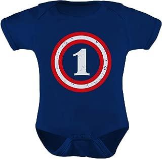Tstars Captain 1st Birthday Bodysuit - Gift for One Year Old Infant Baby Bodysuit