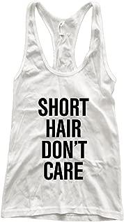 Ava Wilde Short Hair Don't Care Athletic Racerback Tank Top