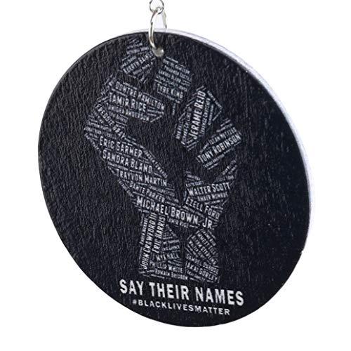 zwyjd Frauen Tropfen Ohrring gedruckt afrikanische Power Faust Holz Tropfen Ohrringe mit schwarzen Leben Angelegenheiten Afro Geschichte Figur Namen Frauen Schmuck Geschenke