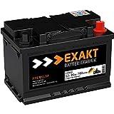 EXAKT Autobatterie 12V 80Ah Starterbatterie PKW KFZ Auto Batterie (80Ah)