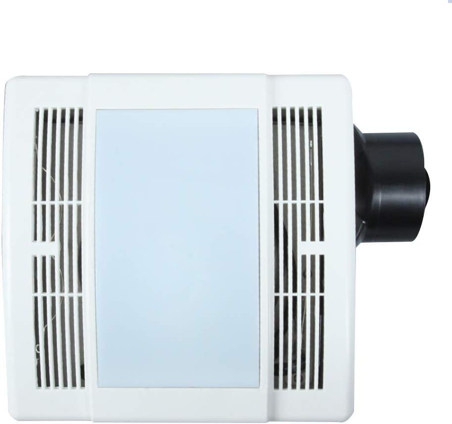 Ultra Quiet Bathroom Fan With LED Light 90CFM 1.5 Sone (12W E26 Base LED Blub Included) 3 Years Warranty by Akicon