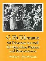 TELEMANN - Trio Sonata en Mi menor (TWV:42/e 2) para Flauta, Oboe y BC (Partitura/Partes)