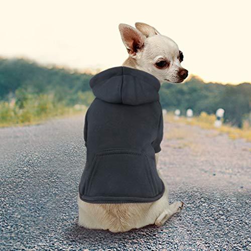 Idepet Haustier Kleidung Hundepullover Hunde Kleider welpen Pullover Hunde Warmer Mantel für Katzen Kleine Hunde Chihuahua Welpe Teddy Pudel (L, Schwarz)