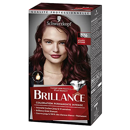 Schwarzkopf - Brillance - Coloration Cheveux Permanente Intense - Acajou Intense 876