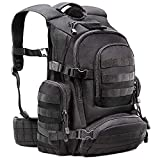 Tactical Military 1050D Nylon Black Backpack Carrying Rucksack with 50L Capacity & Comfortable Back Panels Ideal for Outdoors, Camping, Hunting, Survival, Fishing, Hiking & Sports