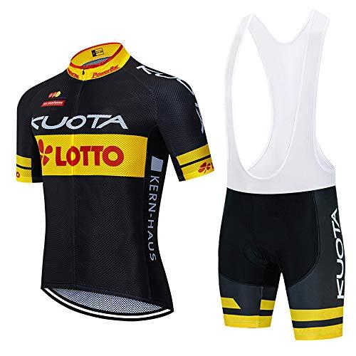 Été Homme Combinaison Cycliste Maillot de Cyclisme Manches Courtes et Bib Shorts de Cyclisme Combinaisons