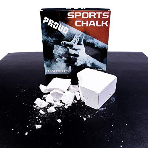 PROUD Kalk Block Fit Grip Block Kreide Block Sportkreide Block Gewichtheber Kreide Kletterkreide Weightlifting Chalk Magnesia Block Kalk Block