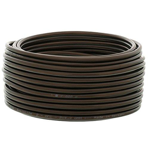 DCSk 50m - 2x4mm² Lautsprecherkabel schwarz - OFC Kupferkabel für HiFi/Audio - 99,99% Kupfer Boxenkabel mit Isolierung