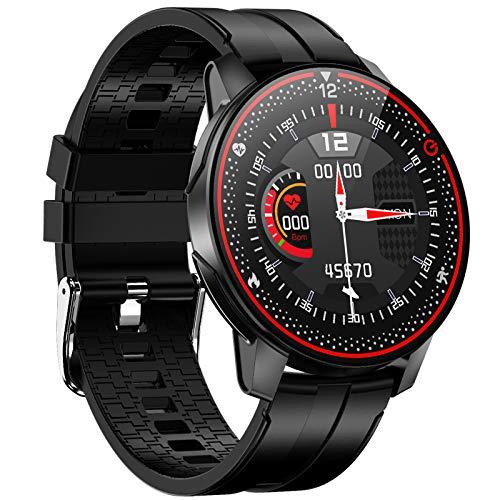 EIGIIS Smartwatch, Reloj Inteligente Impermeable IP68 para Hombre Mujer, Pulsera Actividad Inteligente con 9 Deportes, Pulsómetro, Monitoreo del Sueño, Rastreador de Fitness para Android iOS