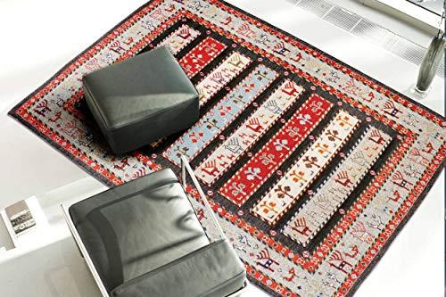 Blackamoor Rugs Baluch Sumak Teppich, 170 x 240 cm, handgefertigt, Tierbaum-Design