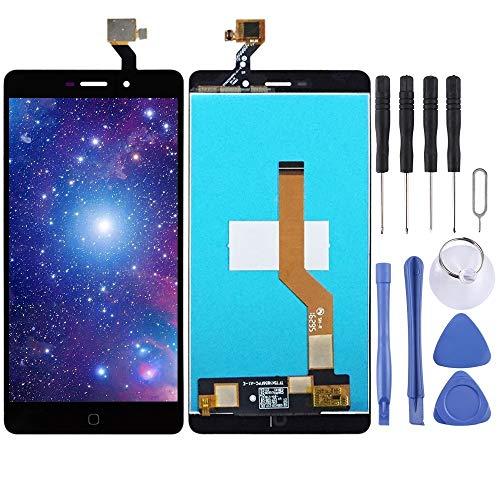 Dongdexiu Piezas de Repuesto del teléfono Celular Pantalla LCD y Montaje Completo digitalizador for Elephone P9000 (Color : Black)