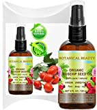 Botanical Beauty ORGANIC ROSEHIP OIL 100% Pure. For Face, Hair and Body. 4 Fl.oz.- 120 ml.