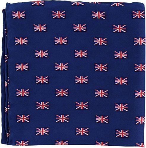 Michelsons of London Rouge/Blanc/Bleu Petit Union Jack Silk mouchoir de