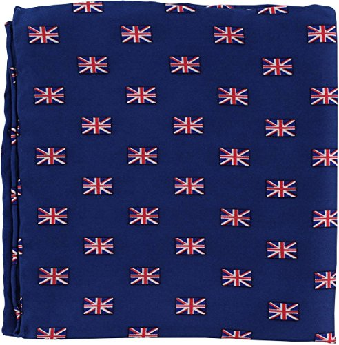 Michelsons of London Rouge/Blanc/Bleu Petit Union Jack Silk mouchoir de