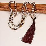 donne 108 mala perline collana 8mm collana navale in pietra naturale nuovo boho lariat yoga collana lunga gioielli gioielli