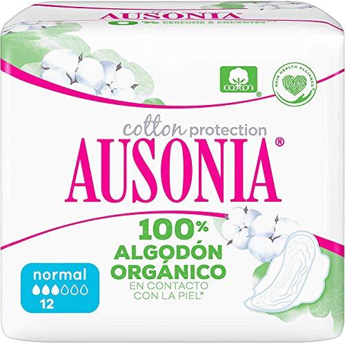 Ausonia Cotton Protection Normal (tamaño 1) Compresas Con Alas, 12
