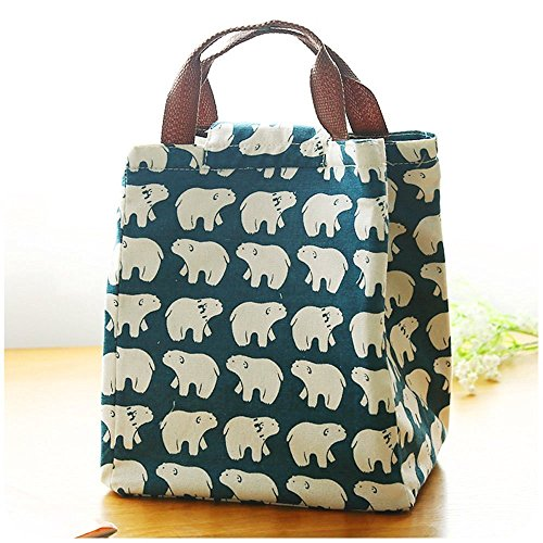 Wasserdicht Isolierte Lunch Tasche Lunch Tasche für Frauen Kinder Lunch Box Tasche Tote Canvas Lunch Bag Isolierung Paket tragbar, eisbär