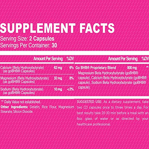 True Recovery TrueTONE Women's Fat Burner - Appetite Suppressant, Energy Booster, Muscle Toner and Weight Loss Supplement with Keto Sodium, Calcium and Magnesium Salts Fat Burner -60 Weight Loss Pills 5