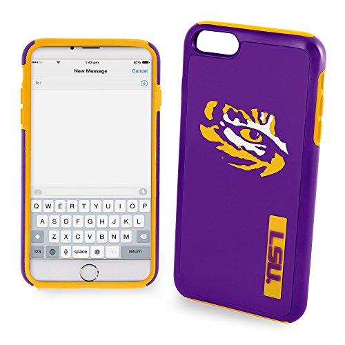 Forever Collectibles LSU Tigers Impact - Carcasa híbrida de TPU para iPhone 8 Plus, iPhone 7 Plus, iPhone 6 Plus, 6S Plus, Pantalla de 5,5 Pulgadas