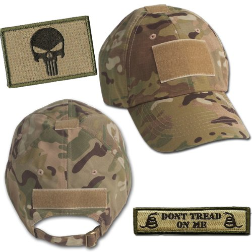 Amazon.com  Punisher Tactical Hat   Patch Bundle (2 Patches + Hat) -  Multicam  The Punisher  Clothing 7ae88e5508