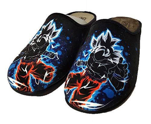 Zapatillas Fan Art inspiradas en Goku Dragon Ball - Cómodas casa Pantuflas (Numeric_44)